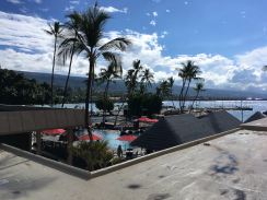 View from the hotel in Kona